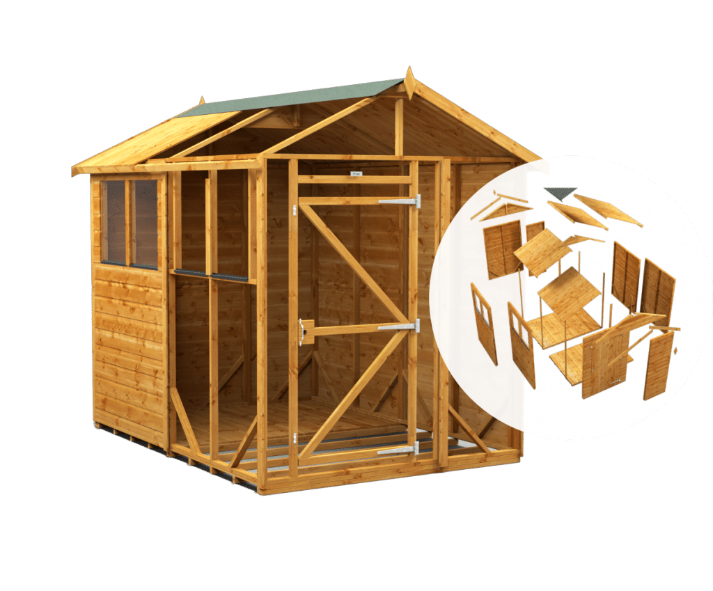 Apex shed with internal view of insides Shed Monkey