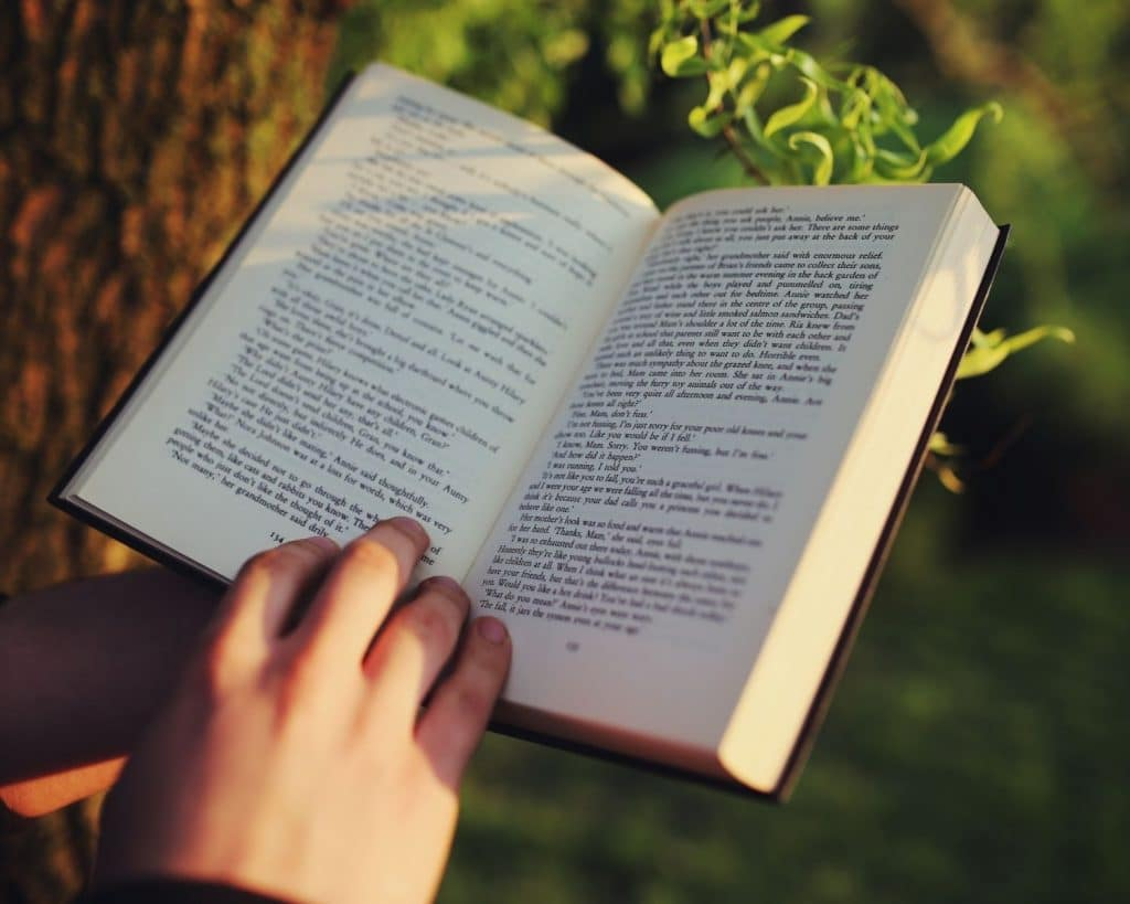 Reading Book Outside